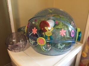 Mouse or dwarf hamster  cage with accessories