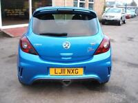 2011 Vauxhall/Opel Corsa 1.6i 16v Turbo VXR Blue 3d **NEW MOT**
