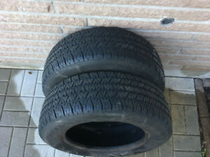 2 PNEUS / 2 ALL SEASON TIRES 195/65/15 BF GOODRICH