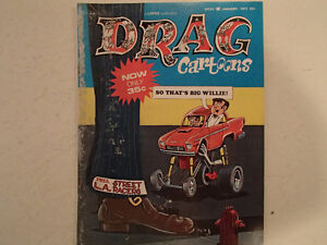 DRAG CARTOONS January 1972. So That's Big Willie!