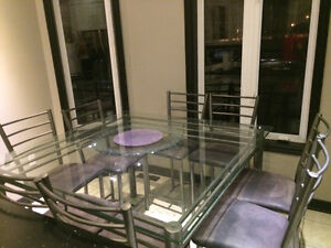 Dining table set for sale + 8 chairs