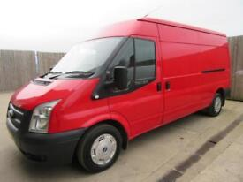 FORD TRANSIT VAN T300 2013 2.2 TDCI LWB MEDIUM ROOF AIR CON RED F/S/H
