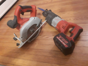 Milwaukee V28 lithium cordless tools & battery