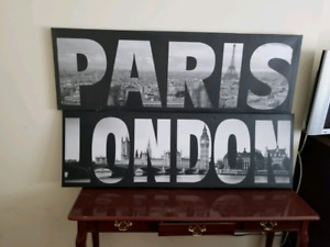 PARIS/LONDON WALL DECOR