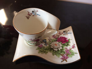 Marvelous Engliand Cup & Saucer by Adeline Collection $Red'd