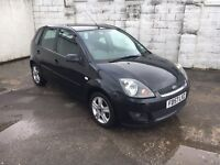 2008 FORD FIESTA ZETEC CLIMATE TDCI BLACK 1.4 DIESEL 5 SPEED MANUAL HATCHBACK