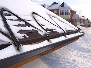 Roof de-icing heating cable
