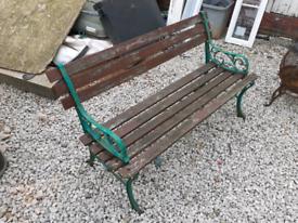 Cast iron bench / benches / garden furniture / patio / outdoor bench