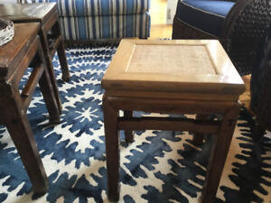 End Table Chinese Caned