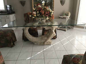 Kitchen Dining Glass Table