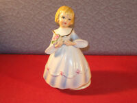 Vintage Schmid music box. Blonde girl with blue eyes