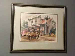 General Store Watercolour Painting