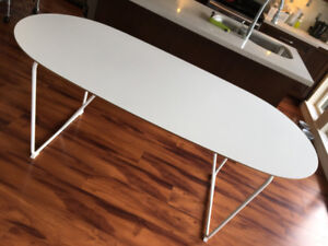 IKEA SLÄHULT Table, white, Backaryd white white