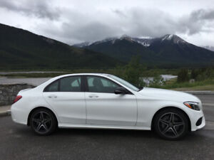 2018 C300 Mercedes Benz, AWD, PREMIUM and NIGHT Package