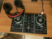 Numark Party Mix with Numark HF350 headphones