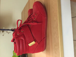 """Spring"" Red High Tops brand new!"