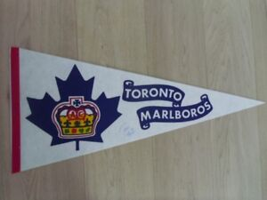TORONTO MALBOROS BANNER- With Autograph of Terry Martin
