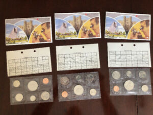 1982 Royal Canadian Mint Coins (uncirculated)