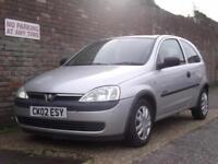 Vauxhall/Opel Corsa 1.0i Comfort 2002(02) 3 Door Hatchback