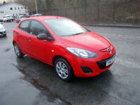 MAZDA 2 1.3 TS AIR CON 5 DOOR £30 A YEAR RFL BRIGHT RED MP3 CONNECTION 2013-63