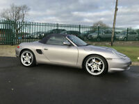 53 PORSCHE BOXSTER 2.7 CONVERTIBLE HIGH SPEC FSH RED LEATHER