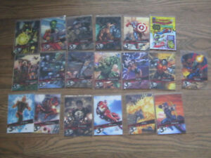 Marvel 3D 19 card lot - Spider-Man Captain America Iron Man etc