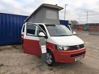 Volkswagen Transporter 2013 2.0TDi T5 CAMPERVAN £29,800 inc Vat WHITE OVER RED