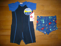 Maillot neuf + WETSUIT 2T/ NEW Toddler Bathing suit and WETSUIT
