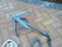6kg boat anchor with chain / rooe