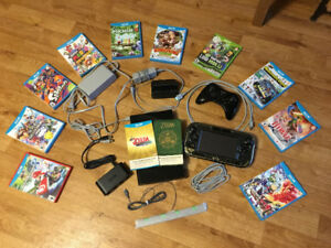 Nintendo Wii U, Pro Controller and 12 Games