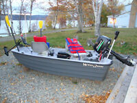 2013 Two seater unsinkable boat with motors & accessories