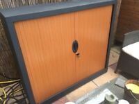 Office cabinet with sliding doors + key