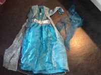 Elsa fancy dress costume and Cape, new without tags 3-4 years.