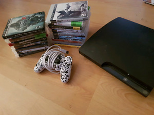 'Fat' PS3 with remote and games