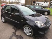5606 Ford Fiesta 1.25 Zetec Climate Black 5 Door MOT 12m