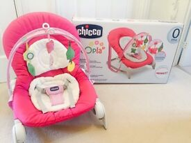 Chicco baby Girl baby bouncer pink