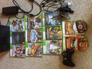 Xbox 360 + 9 Games And 2 Controllers