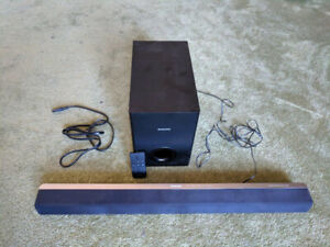 Low Profile Sound Bar for Televisions