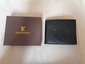ef83a4043b84 Louis-Vuitton black monogram print wallet