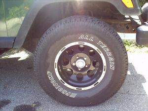4 Mags Monté sur 4 pneu neuf a  discuter