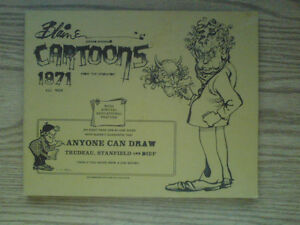 SIGNED - Blaine's Award Winning Cartoon's, 1971