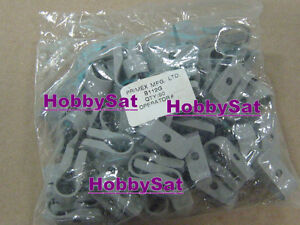 B117G Primex single coax cable clamps grey 100x