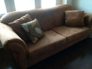 100% polyester microfiber suede couches (2) for sale