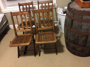 solid wood primitive folding chairs