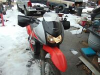 Enduro dirt and street motorcycle for sale.