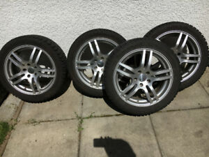 Winter tires 225/45R17 on alloy rims 17x7.5 5/112