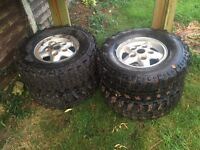 Off road Land Rover disco wheels and Insa turbos