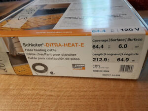 Ditra Heat Cables for in-floor electric heat under tile