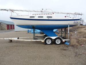 22 Foot Sail Boat ( Tanzer22) and Dual Axel Trailer