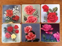 Vintage Win-El-Ware Table Mat Coaster set in case